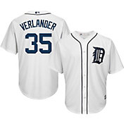 Majestic Men's Replica Detroit Tigers Justin Verlander #35 Cool Base Home White Jersey