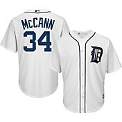 Majestic Men's Replica Detroit Tigers James McCann #34 Cool Base Home White Jersey