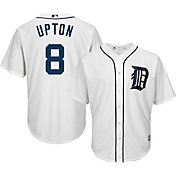 Majestic Men's Replica Detroit Tigers Justin Upton #8 Cool Base Home White Jersey