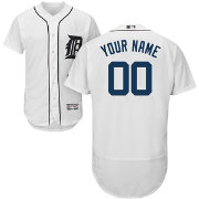 Majestic Men's Custom Authentic Detroit Tigers Flex Base Home White On-Field Jersey