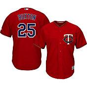 Majestic Men's Replica Minnesota Twins Byron Buxton #25 Cool Base Alternate Red Jersey