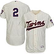 Majestic Men's Authentic Minnesota Twins Brian Dozier #2 Alternate Ivory Flex Base On-Field Jersey