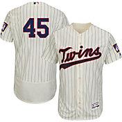 Majestic Men's Authentic Minnesota Twins Phil Hughes #45 Alternate Ivory Flex Base On-Field Jersey