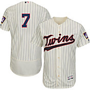 Majestic Men's Authentic Minnesota Twins Joe Mauer #7 Alternate Ivory Flex Base On-Field Jersey