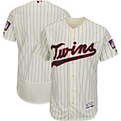 Majestic Men's Authentic Minnesota Twins Alternate Ivory Flex Base On-Field Jersey