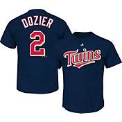Majestic Men's Minnesota Twins Brian Dozier #2 Navy T-Shirt