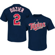 Majestic Men's Minnesota Twins Brian Dozier #2 Navy T-Shirt