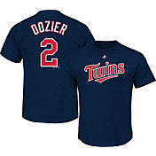 Majestic Triple Peak Men's Minnesota Twins Brian Dozier Navy T-Shirt