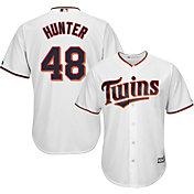 Majestic Men's Replica Minnesota Twins Torii Hunter #48 Cool Base Home White Jersey