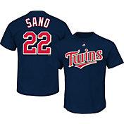 Majestic Men's Minnesota Twins Miguel Sanó #22 Navy T-Shirt