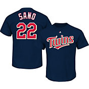 Majestic Men's Minnesota Twins Miguel Sanó #22 Navy T-Shirt