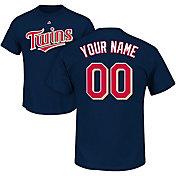 Majestic Men's Custom Minnesota Twins Navy T-Shirt