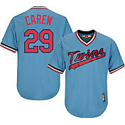 Majestic Men's Replica Minnesota Twins Rod Carew Cool Base Light Blue Cooperstown Jersey