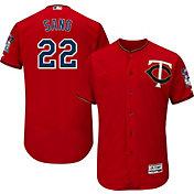 Majestic Men's Authentic Minnesota Twins Miguel Sano #22 Alternate Red Flex Base On-Field Jersey