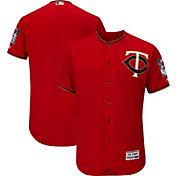Majestic Men's Authentic Minnesota Twins Alternate Red Flex Base On-Field Jersey