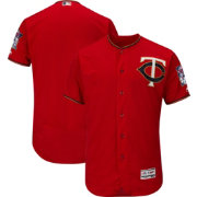 Majestic Men's Authentic Minnesota Twins Alternate Red Flex Base On-Field Jersey