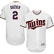 Majestic Men's Authentic Minnesota Twins Brian Dozier #2 Home White Flex Base On-Field Jersey