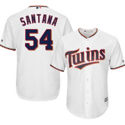 Majestic Men's Replica Minnesota Twins Ervin Santana #54 Cool Base Home White Jersey