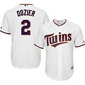 Majestic Men's Replica Minnesota Twins Brian Dozier #2 Cool Base Home White Jersey