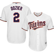 majestic mens replica minnesota twins brian dozier 2 cool base home white jersey