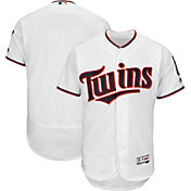 Majestic Men's Authentic Minnesota Twins Home White Flex Base On-Field Jersey