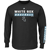 Majestic Men's Chicago White Sox Proven Pastime Black Long Sleeve Shirt
