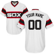 Majestic Men's Custom Cool Base Cooperstown Replica Chicago White Sox 1981-85 White Jersey