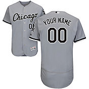 Majestic Men's Custom Authentic Chicago White Sox Flex Base Road Grey On-Field Jersey