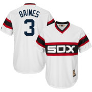 Majestic Men's Replica Chicago White Sox Harold Baines Cool Base White Cooperstown Jersey