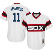 Majestic Men's Replica Chicago White Sox Luis Aparicio Cool Base White Cooperstown Jersey