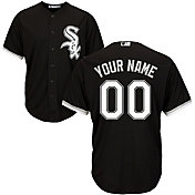 Majestic Men's Custom Cool Base Replica Chicago White Sox Alternate Black Jersey
