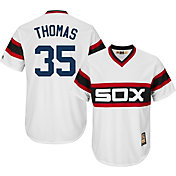 Majestic Men's Replica Chicago White Sox Frank Thomas Cool Base White Cooperstown Jersey
