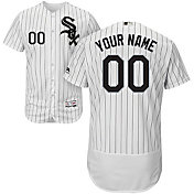 Majestic Men's Custom Authentic Chicago White Sox Flex Base Home White On-Field Jersey