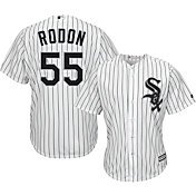 Majestic Men's Replica Chicago White Sox Carlos Rodon #55 Cool Base Home White Jersey