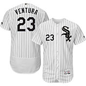 Majestic Men's Authentic Chicago White Sox Robin Ventura #23 Home White Flex Base On-Field Jersey
