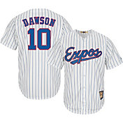 Majestic Men's Replica Montreal Expos Andre Dawson Cool Base White Cooperstown Jersey