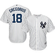 Majestic Men's Replica New York Yankees Didi Gregorius #18 Cool Base Home White Jersey