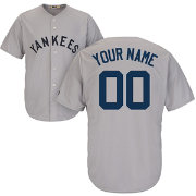 Majestic Men's Custom Cool Base Cooperstown Replica New York Yankees 1927 Grey Jersey