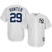 Majestic Men's Replica New York Yankees Catfish Hunter Cool Base White Cooperstown Jersey