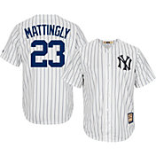 Majestic Men's Replica New York Yankees Don Mattingly Cool Base White Cooperstown Jersey