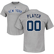 Majestic Men's Full Roster New York Yankees Grey T-Shirt