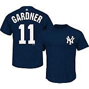 Majestic Triple Peak Men's New York Yankees Brett Gradner Navy T-Shirt