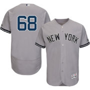 Majestic Men's Authentic New York Yankees Dellin Betances #68 Road Grey Flex Base On-Field Jersey