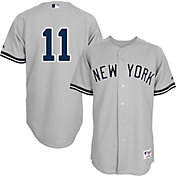 Majestic Men's Authentic New York Yankees Brett Gardner #11 Road Grey On-Field Jersey
