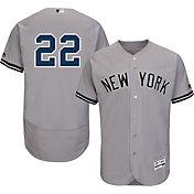Majestic Men's Authentic New York Yankees Jacoby Ellsbury #22 Road Grey Flex Base On-Field Jersey