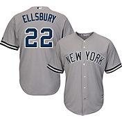Majestic Men's Replica New York Yankees Jacoby Ellsbury #22 Cool Base Road Grey Jersey