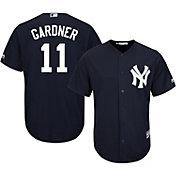 Majestic Men's Replica New York Yankees Brett Gardner #11 Cool Base Alternate Navy Jersey