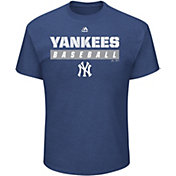 Majestic Men's New York Yankees Proven Pastime Navy T-Shirt