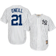 Majestic Men's Replica New York Yankees Paul O'Neill Cool Base White Cooperstown Jersey