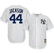 Majestic Men's Replica New York Yankees Reggie Jackson Cool Base White Cooperstown Jersey